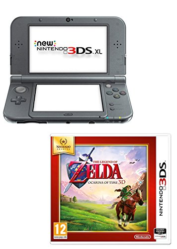 Console New Nintendo 3DS XL – métallique noir + The Legend of Zelda : Ocarina of Time 3D – Nintendo Selects