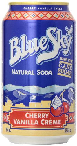 Blue Sky - Natural Soda - Cherry Vanilla Crème 1 x 355 ml (Vanilla Sprite)