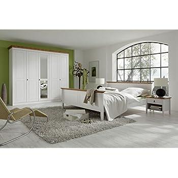 Schlafzimmer- Set \'Essen Set I\' Komplettes Schlafzimmer Kiefer weiss ...