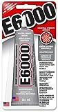 Eclectic E6000 Industriekleber, 59,1ml Tube, hitzebeständiger wasserfester Kleber, Alleskleber für Metall, Kunststoff, Leder, Holz, Glas, Deko, Porzellan, Schmuck etc., flüssiger Klebstoff transparent