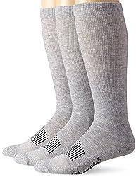 Wrangler Mens Western Boot Socks, Grey, Sock Size:10-13/Shoe Size: 6-12(Pack of 3)
