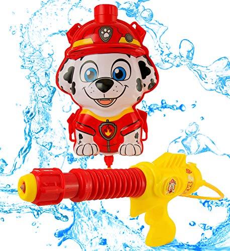Zubehör Kostüm Rennen Auto - Paw Patrol Rucksack Marshall Wasser Pistole | Tragbar Mit Verstellbaren Trägern Lustiges Spielzeug Für Kinder Im Freien Ab 3 Jahren