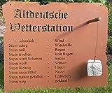 Mui 70 x 82cm Altdeutsche Wetterstation Rost Tafel Garten Schild Metall Deko Edelrost