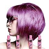 Crazy Color Hair Dye Crazy Color Semi-Permanent Colour Hair Dye 4 Pack (Lavender)