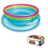 Intex Inflatable Jump-O-Lene Bouncer + 100 Colored Fun Ballz | 48267EP + 49602EP by Intex