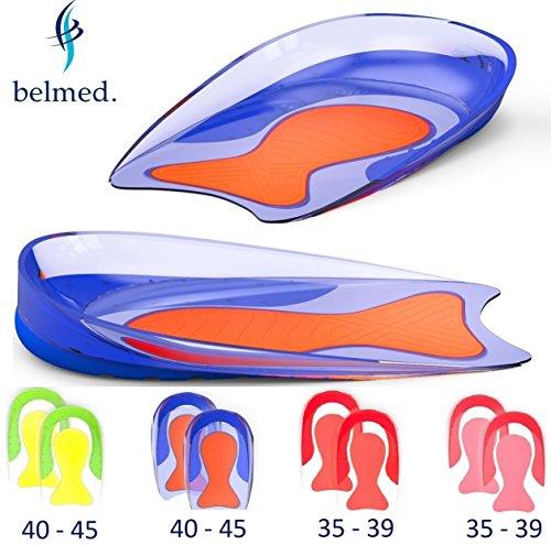 1 Paar Fersensporn Einlagen - Gel Fersenkissen - Schuheinlagen aus Medizinischem Silikon - Fersenpolster - Fersensporn - Gelkissen - Geleinlagen