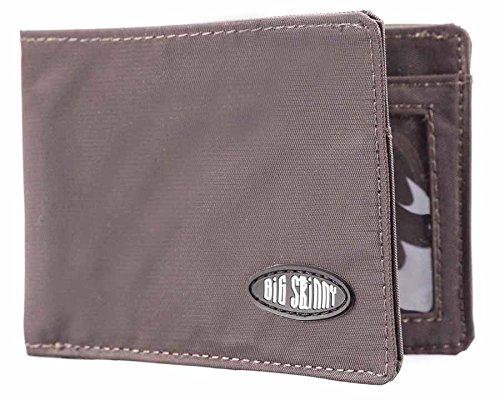 Big Skinny Herren Kompaktes Sport Falttür Slim Wallet, für bis zu 20Karten, Braun - Mikrofaser-wallet-karte
