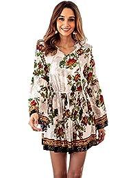 La primavera e l estate Le nuove donne vestono abiti di cotone stampa a  maniche d194aa23d12