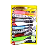 Snow Island Isola di neve artificiale da pesca 52 g/Lot morbido Lure Japan Shad Worm Swimbait Jig Head Fly Fishing pesce di gomma di silicone 10PCS