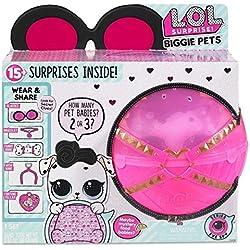 MGA Entertainment L.O.L. Surprise! Biggie Pet - Dollmatian Chica - Kits de Figuras de Juguete para niños (Chica, 12 año(s),, plástico, Animales, Closed Box with Feature Window)