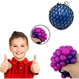 Party Propz Grape Stress Relief Squeeze Hand Wrist Toy Balls (Multicolour) - Set of 2