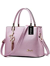 03a18852868d Alidier New Brand and High Quality 2016 New Women Top Handle Satchel Handbags  Tote Purse Purple