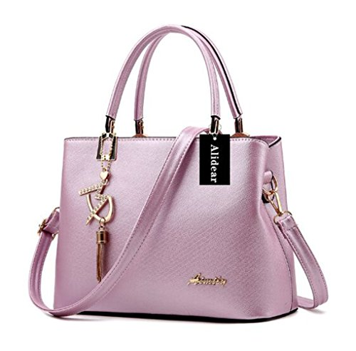c3139a9990 Alidier New Brand and High Quality 2016 New Women Top Handle Satchel  Handbags Tote Purse Purple