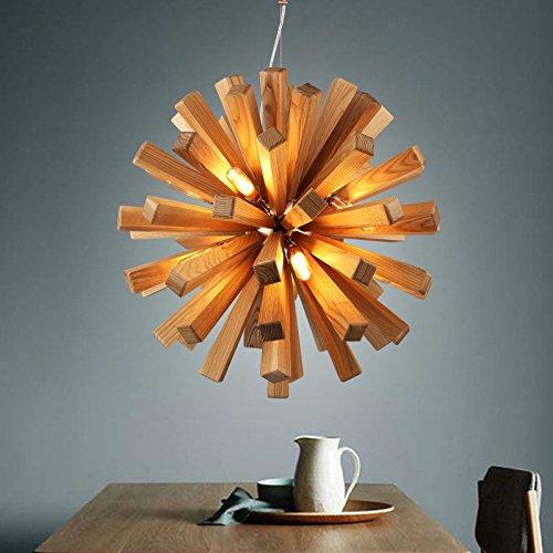 Vento da giardino in legno in legno personalità lampadario circolare creative LOFT soggiorno sala da pranzo Camera da letto la luce nella Hall lampada da parete