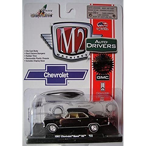 M2 MACHINES AUTO-DRIVERS SERIES 1:64 SCALE BLACK WITH GOLD INTERIOR 1967 CHEVROLET NOVA SS R28 DIE-CAST by M2