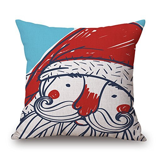 Harry wang Merry Christmas Series Cotton Linen Decorative Throw Pillow Case Decorative Cushion Cover Pillowcase Square -Pattern,45x45cm Halloween-sleeper