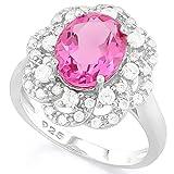 925sterling Silver gioielli per donne, grande rubino pietra anello di fidanzamento, anello di fidanzamento wedding Band taglia o