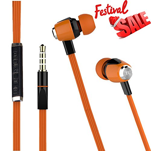 NEW Joy Digital METAL FINISH Universal HiFi Noise-Isolating High Bass In-Ear Piston Earphone with 3.5mm Jack , With Mic - HS-007-ORANGE
