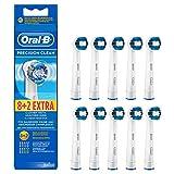 Oral-B Precision Clean Aufsteckbürsten, Umschließt jeden Zahn einzeln für eine optimale Reinigung, 8+2 Stück - 1