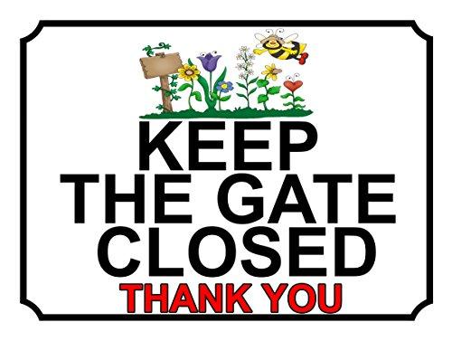 SHAWPRINT 289h1, halten Sie das Tor geschlossen Thank You, für den Garten, Metall-Schild, 200x 150mm (Sie Geschlossen Halten Tor)