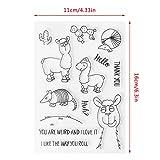 ECMQS DIY Alpaka Transparente Briefmarke, Silikon Stempel Set, Clear Stamps, Schneiden Schablonen, Bastelei Scrapbooking-Werkzeug