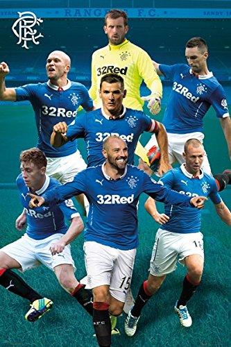 Grindstore Rangers Football Club Fußball Stars Poster (61x91.5cm)   Offiziell lizenziert -