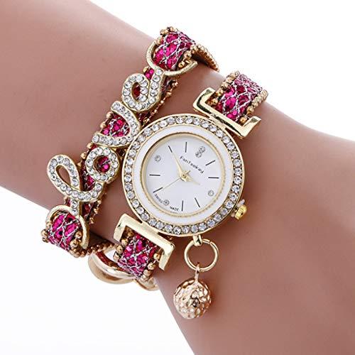 Baiyao LIEBE Strass Armbanduhr Kristall Uhr Armband Doppel Wrap Around Weave Frauen Uhr Für Geschenke