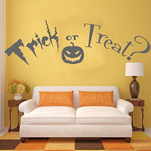 Süßes sonst gibt's Saures Zitat, Halloween.Vinyl Wall Art Sticker Aufkleber Wandbild.Hauptwanddekor Wohnzimmer Flur Wandaufkleber A9 57 * 183CM