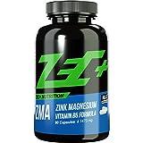 ZEC+ ZINK & MAGNESIUM ZMA | Stärkung des Immunsystems | Zink und Magnesium in optimaler Menge und Bioverfügbarkeit | bessere Aufnahme im Körper | Vitamin B6 | Muskelwachstum | 90 Kapseln