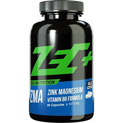 #ZEC+ ZINK & MAGNESIUM ZMA | Stärkung des Immunsystems | Zink und Magnesium in optimaler Menge und Bioverfügbarkeit | bessere Aufnahme im Körper | Vitamin B6 | Muskelwachstum | 90 Kapseln#