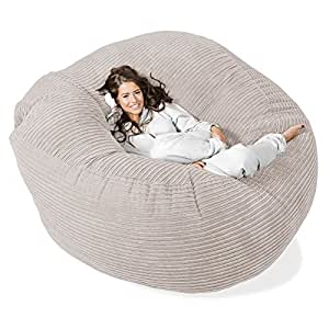 lounge pug canap pouf g ant 39 grande mammouth 39 pouf canap gros pouf c tel cr me amazon. Black Bedroom Furniture Sets. Home Design Ideas