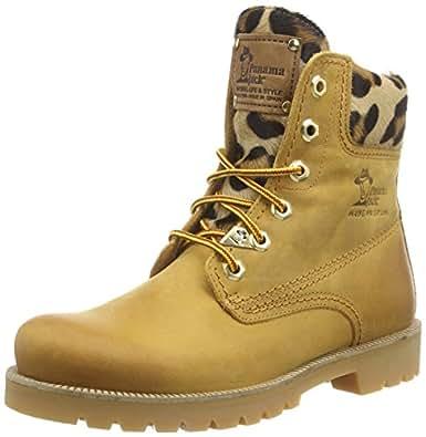 panama jack panama 03 leopardo damen warm gef ttert biker boots kurzschaft stiefel. Black Bedroom Furniture Sets. Home Design Ideas