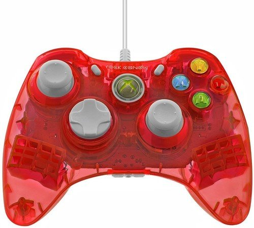 Candy Xbox 360 Controller Rock (X360 Controller Rock Candy - rot)