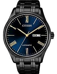 Citizen Quartz Movement Analogue Blue Dial and Black Band Men's Watch