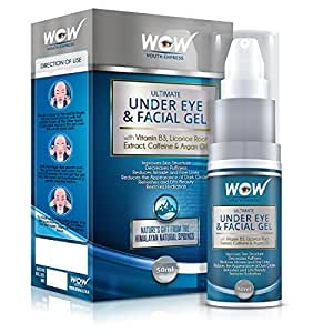 Wow Ultimate Under Eye and Facial Gel, 50ml (Pack Of 3)