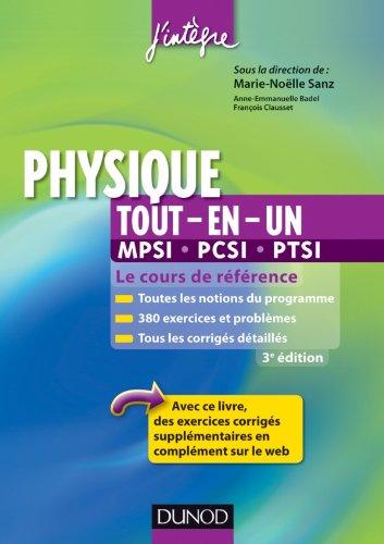 Physique tout-en-un MPSI-PCSI-PTSI - 3ème édition - Le cours de référence