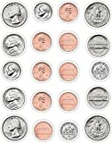 Carson Dellosa Geld, US-Münzen Form Aufkleber (5261)
