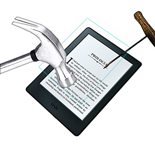 """ACM Tempered Glass Screenguard Compatible with Kindle E-Reader 6"""" Tablet Screen Guard Scratch Protector"""