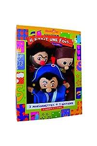 Sycomore MAST302 - Marionnettes à Main - Trio Guignol, Gnafron, Gendarme - Coffret de Trois Marionnettes avec Livre d'Histoire
