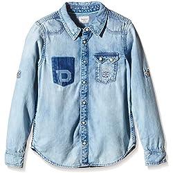 Pepe Jeans Zyan - Chemise - Uni - Garçon - Bleu (Denim) - FR: 14 Ans (Taille Fabricant: 14 Ans)