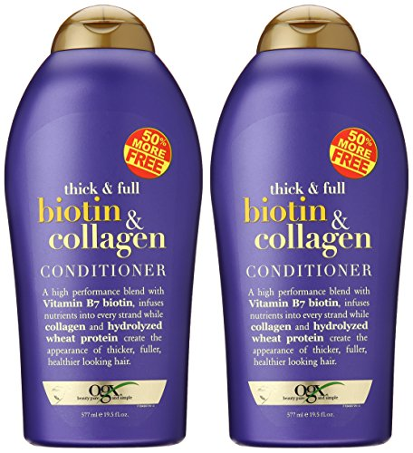 OGX (Thick & Full) Biotin & Collagen Shampoo 19.5oz + Conditioner 19.5oz Duo-Set