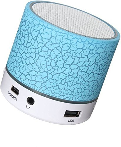 Happytech Mini Bluetooth Wi-Fi Multimedia Speaker System with Pen Drive/Micro-SD Card Slot for Apple iPad and All Other Smartphones (Colours May Vary)