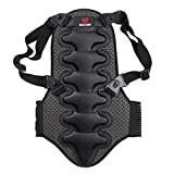 Moresave Rückenschützer Körper Wirbelsäule Rüstungsschutz Sport Fahrrad Motorrad Weste Schwarz S-XL