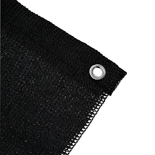 Ribelli Balkon Sichtschutz Balkonsichtschutz Zaun Windschutz Balkonumspannung verschiedene Größen und Farben, Farbe:schwarz, Maße:6m x 75cm