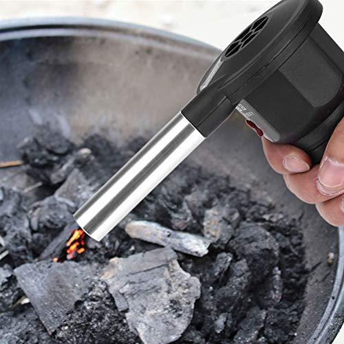 Ventilador de camping de la BBQ, portátil, barbacoa, ventilador de aire eléctrico, barbacoa, soplador...
