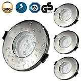 Spot Encastrable LED Pour Salle de Bain Kambo, 4 X 6W GU10 Spots de Plafond IP44...