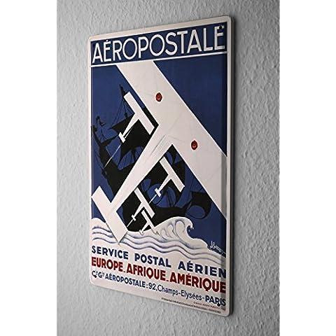 Aeroporto Cartello Targa In Metallo Aereo Piano