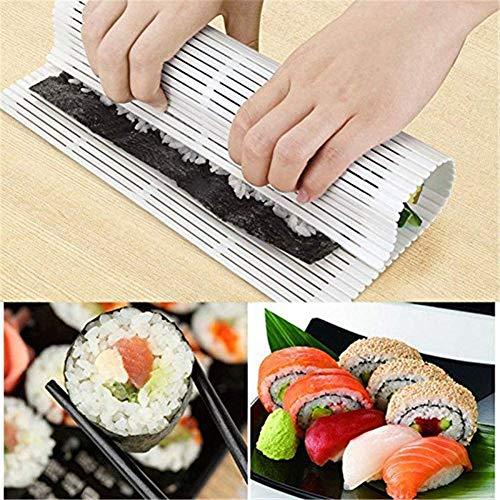 Color: blanco. Material: gel de sílice. Peso: 150 g. Tamaño: 24,5 x 27,3 cm. El paquete incluye El paquete incluye: 1 cortina de sushi.