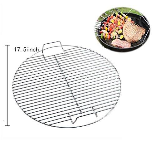 BBQ Winj BBQ grate fuoco griglia barbecue net Pit Barrel barbecue Fire Pit BBQ griglia di cottura, heavy duty 44.5cm barbecue net griglia barbecue cesto per griglie barbecue (rotondo)