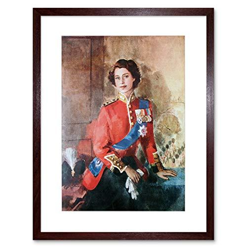 Wee Blue Coo Painting Portrait Queen Elizabeth II
